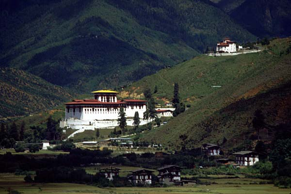 Paro The Most Beautiful Of All Bhutans Valleys Houses Historic Dzong First Monastery Was Built Here In Tenth Century